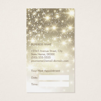 Shiny Gold Glitter Sparkles Appointment Card