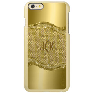 Shiny Gold Look With Diamonds Pattern