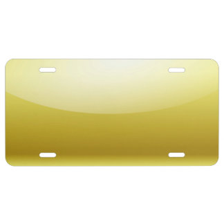 Shiny Gold Metal License Plate