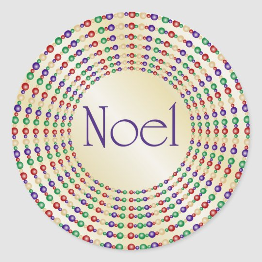 Shiny Gold Noel Stickers