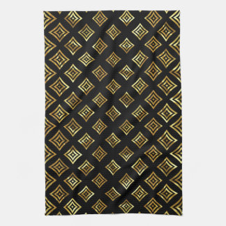 Shiny Gold Rhomboid Kitchen Towel