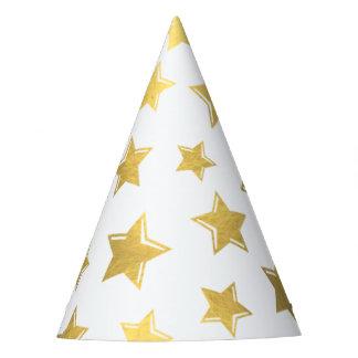 Shiny Gold Stars Party Hat
