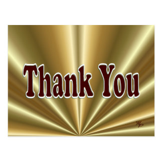 Shiny Gold Thank You Postcard - customize