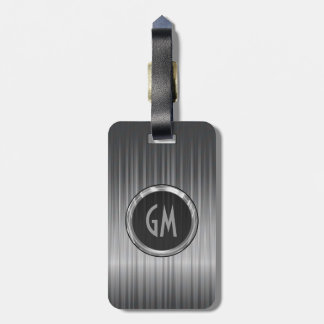 Shiny Gray  Carbon Fiber Texture Luggage Tag