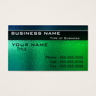 Shiny Green and Blue Metal Generic Business Card