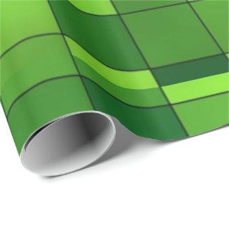Shiny Green Mosaic Pattern