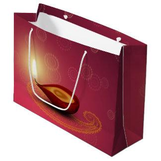 Shiny Happy Diwali Diya - Large Gift Bag
