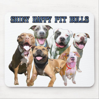 Shiny Happy Pit Bulls Mousepad