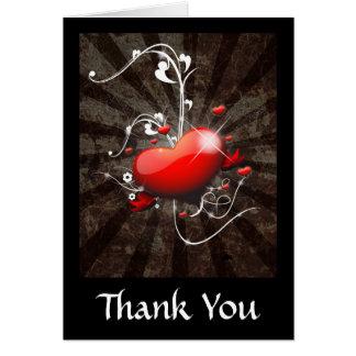 Shiny Heart with Swirly Grunge Background Card