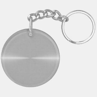 Shiny Like Steel Metal Background Template Keychain