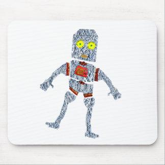 Shiny Metal Robot | Aluminum Effect Mouse Pad