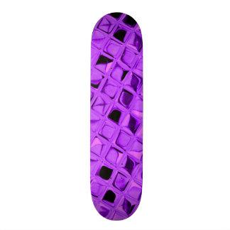 Shiny Metallic Amethyst Diamond Faux Serpentine Skate Board Decks