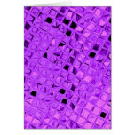 Shiny Metallic Amethyst Purple Grape Diamond Greeting Cards