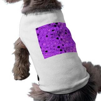 Shiny Metallic Amethyst Purple Grape Diamond Dog Shirt