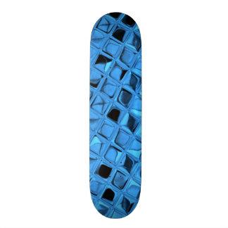 Shiny Metallic Blue Diamond Faux Serpentine Skate Board Decks