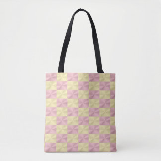 Shiny metallic effect rose-pink and gold pattern tote bag