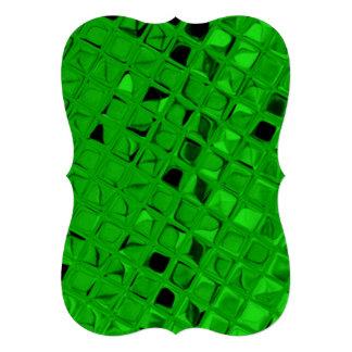 Shiny Metallic Emerald Green Diamond Serpentine Personalized Announcement