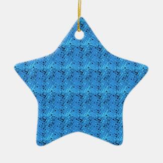 Shiny Metallic Girly Blue Diamond Sissy Sassy Ceramic Star Ornament