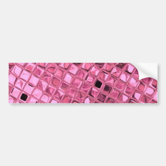 Shiny Metallic Girly Pink Diamond Sissy Sassy Bumper Sticker