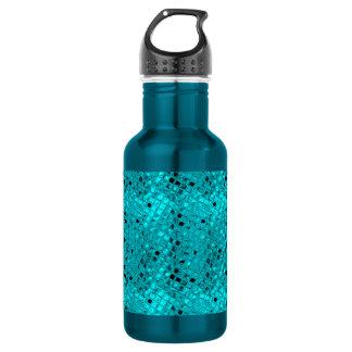 Shiny Metallic Girly Teal Diamond 532 Ml Water Bottle