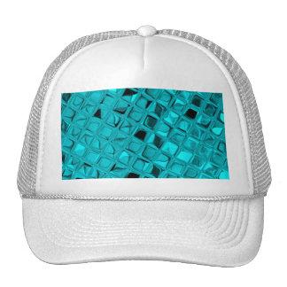 Shiny Metallic Girly Teal Diamond Sassy Sissy Trucker Hat