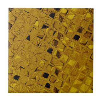 Shiny Metallic Girly Yellow Gold Diamond Tile