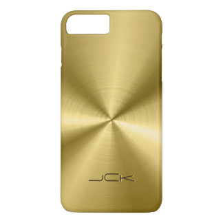 Shiny Metallic Gold Tones Stainless Steel Look iPhone 7 Plus Case