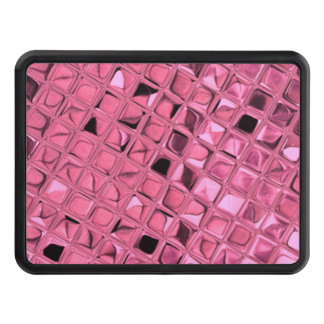 Shiny Metallic Pink Diamond Faux Serpentine Trailer Hitch Cover