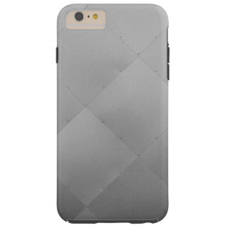 Shiny Modern Checkered Metal Silver Tough iPhone 6 Plus Case