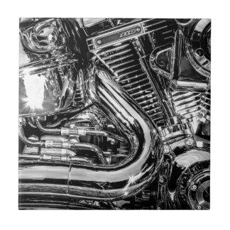 Shiny motorbike engine tiles