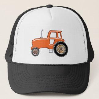 Shiny Orange Tractor Trucker Hat