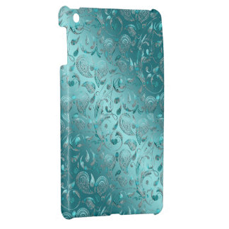 Shiny Paisley Turquoise iPad Mini Cases