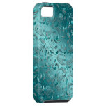 Shiny Paisley Turquoise iPhone 5 Cover