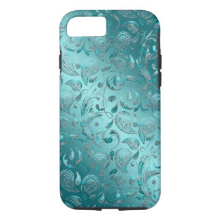 Shiny Paisley Turquoise iPhone 7 Case