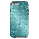 Shiny Paisley Turquoise Tough iPhone 6 Case