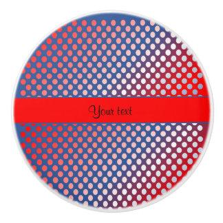 Shiny Patriotic Dots Ceramic Knob