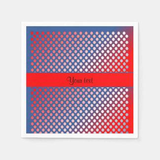 Shiny Patriotic Dots Paper Napkins