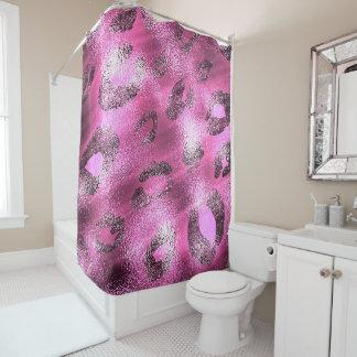 Shiny Pink & Black Leopard Cheetah Print Glam