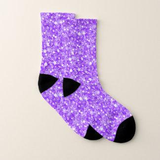 Shiny Purple And White Glitter 1