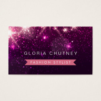 Shiny Purple Glitter - Fashion Stylist Business Card