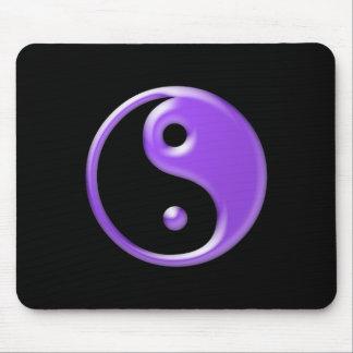 Shiny Purple Yin Yang Symbol Mouse Pad