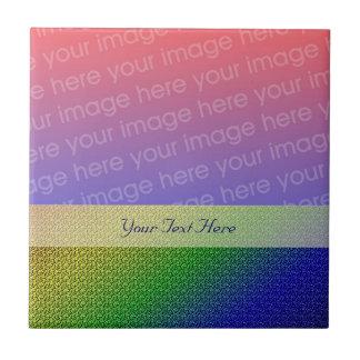 Shiny Rainbow Color Stripes Your Photo Tile