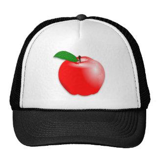 Shiny Realistic Red Apple Fruit Trucker Hat