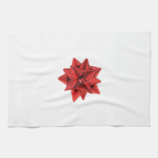 Shiny Red Bow Kitchen Towel