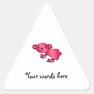 Shiny red koala triangle stickers