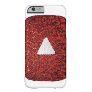 Shiny Red Play Button phone case