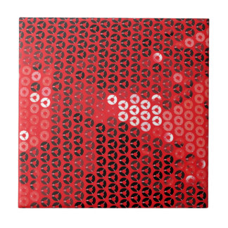 shiny red sequins tiles
