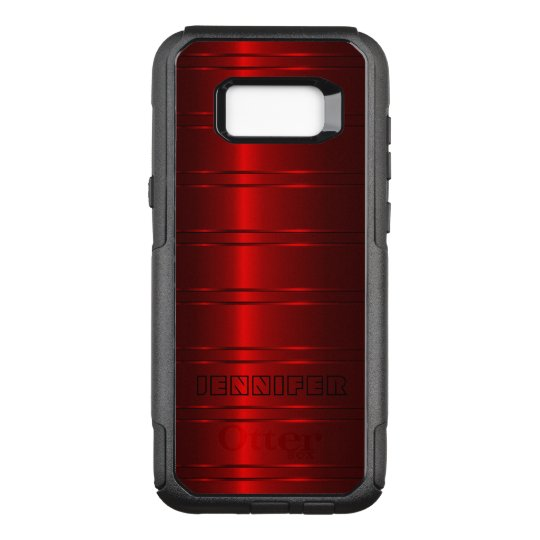 Shiny Red Stripes OtterBox Commuter Samsung Galaxy S8+ Case