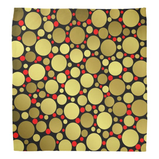 shiny, round, circles, dots, metal, colourful, bandana