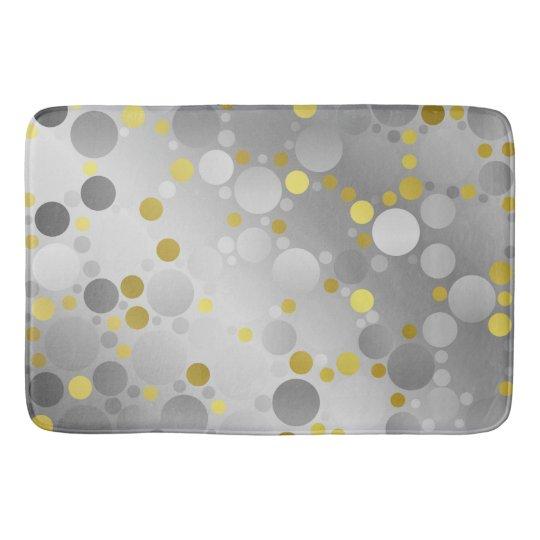 shiny, round, circles, dots, metal, colourful, bath mat